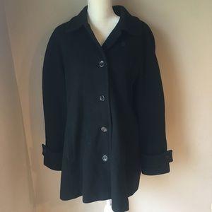 Lands End Swing Wool Jacket Size: 1X EUC
